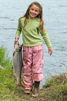 Girl Holding Sockeye Salmon